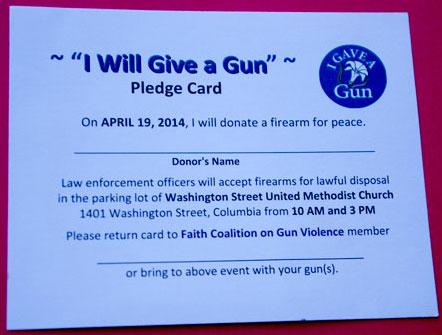 Gun donor card