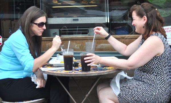 Women eating at Cafe Strudel